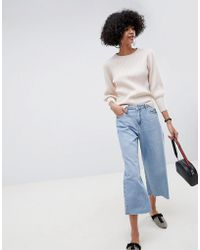 SELECTED - Femme Boat Neck Wide Cuff Jumper - Lyst