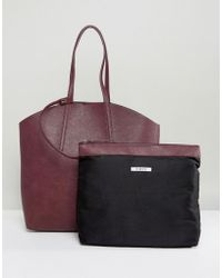 Pieces - Shopper Bag With Removable Pouch - Lyst