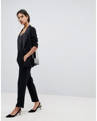 SELECTED - Femme Stretch Tailored Straight Trouser - Lyst