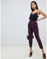 ASOS - High Waist Tapered Trousers - Lyst