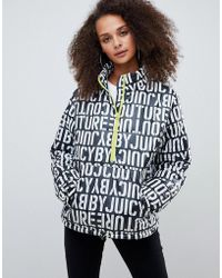 Juicy Couture - Juicy By Multi Logo Padded Jacket With Half Zip Detail - Lyst