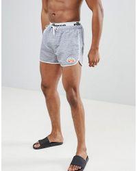 Ellesse - Swim Shorts With Elastic Waistband In Grey - Lyst