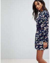 2626ab7630c4c Lyst - AX Paris Cream 2 In 1 Crochet Skirt Mini Dress