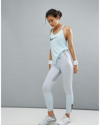 Nike - Training Mid Rise Power Legendary Legging In Grey - Lyst