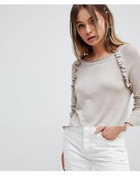 Vila - Jumper With Ruffle Detail - Lyst