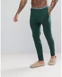 ASOS - Skinny Leg Jersey Pyjama Bottom With Branded Waistband - Lyst