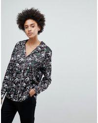 N12H - Staying In My Pyjama Floral Print Shirt - Lyst