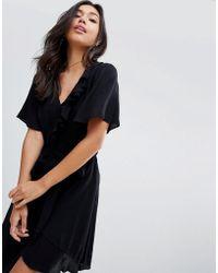 StyleStalker - Mable Belted Wrap Dress - Lyst