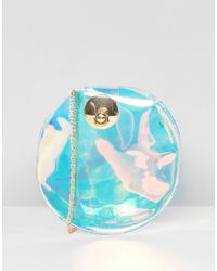 Yoki Fashion - Round Irridscent Cross Body Bag - Lyst