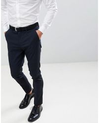 New Look - Skinny Suit Trousers In Navy - Lyst