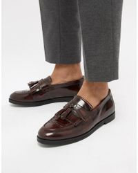 House Of Hounds - Archer Loafers In Burgundy - Lyst