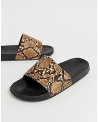 285276c4dca6 Lyst - ASOS All Over Velvet Sliders With Baroque Embroidery in Black ...