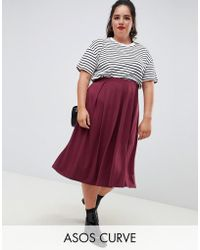 10e4871fe94 Lyst - Asos Mini Skirt With High Waist And Box Pleats in Green
