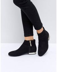 ASOS - Acton Flat Ankle Boots - Lyst