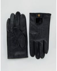 ASOS - Asos Leather Driving Gloves In Black - Lyst