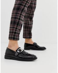House Of Hounds - Archer - Schwarze Loafer mit Schnalle - Lyst