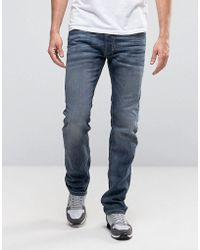DIESEL - Safado 0885jk Straight Fit Jeans In Grey - Lyst