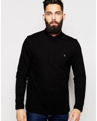 Farah - Polo Shirt With Long Sleeves - Lyst