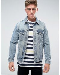 Bershka - Regular Fit Denim Jacket In Light Wash - Lyst
