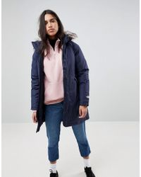 The North Face - Arctic Parka With Detachable Hood In Navy - Lyst