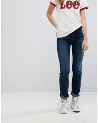 Lee Jeans - Marion Straight Low Rise Jeans - Lyst