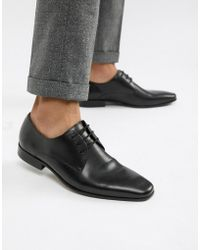 Office - Glide Derby Shoes In Black Leather - Lyst