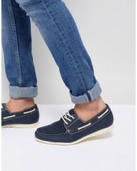 New Look Canvas Boat Shoe In Navy discount sale shop for sale online vEXAT7BY2