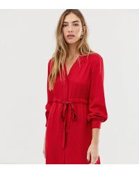 Warehouse - Shirt Dress With Letter Print In Red - Lyst
