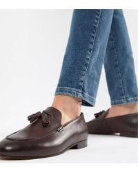 cc2ac8ffc3a H by Hudson - Bolton Tassel Loafers In Wine Leather - Lyst