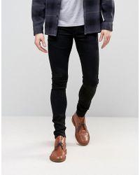 ASOS - Stretch Slim Ankle Grazer Jeans In 12.5oz True Black - Lyst
