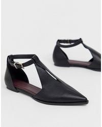 ASOS Lockwood Pointed Ballet Flats In Black