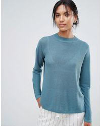 Just Female | Franklin Cross Knit Jumper | Lyst