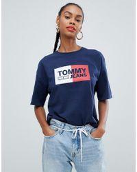 7d3f2dd5 Women's Tommy Hilfiger T-shirts Online Sale - Lyst
