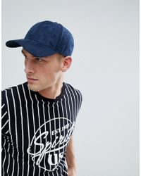 Jack & Jones - Navy Faux Suede Baseball Cap - Lyst