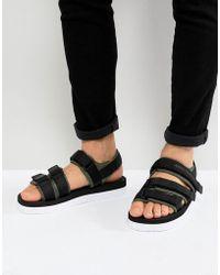 Armani Exchange - Strap Sandals In Black - Lyst