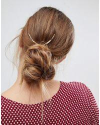 Orelia - Large V Hair Pin - Lyst