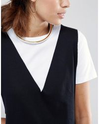 Wolf & Moon - Open Collar - Lyst