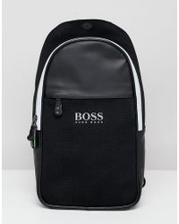 BOSS - Lightec Monostrap Backpack In Black - Lyst
