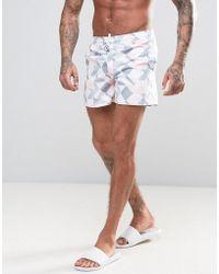 D-Struct - D Struct Swim Shorts With Geo Print - Lyst
