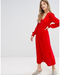 New Look - Button Front Maxi Dress - Lyst