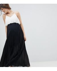 ASOS - Asos Design Maternity Crop Top Maxi Dress In Pleated Colourblock - Lyst