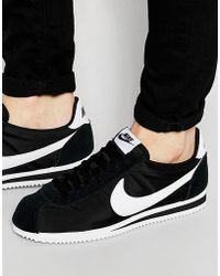 brand new f941a bd4ab Nike - Classic Cortez Nylon Trainers In Black 807472-011 - Lyst