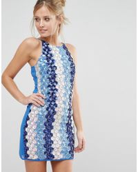 True Decadence - Embellished Coin Shift Dress - Lyst