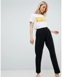 Miss Selfridge - Turn Up Tapered Trousers - Lyst