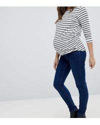 New Look - Over The Bump Dark Blue Jegging - Lyst