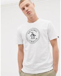 Original Penguin - Circle Logo T-shirt In White - Lyst