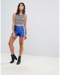 Glamorous - Satin Shorts - Lyst