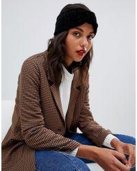 Vero Moda - Chenille Plaited Headband - Lyst