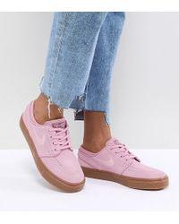 Nike - Zoom Stefan Janoski Trainers In Pink - Lyst