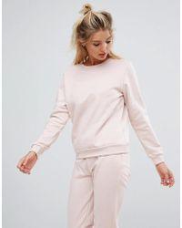 South Beach - Sweatshirt In Pink - Lyst